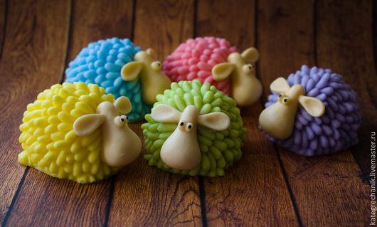 """Мыло ручной работы. Ярмарка Мастеров - ручная работа. Купить Мыло """"Цветные овцы"""". Handmade. Овечки, символ года"""