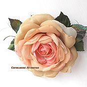 Украшения handmade. Livemaster - original item FABRIC FLOWERS. Chiffon rose - brooch