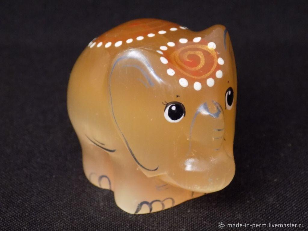 Слоник - фигурка из камня Селенит, Статуэтки, Орда,  Фото №1