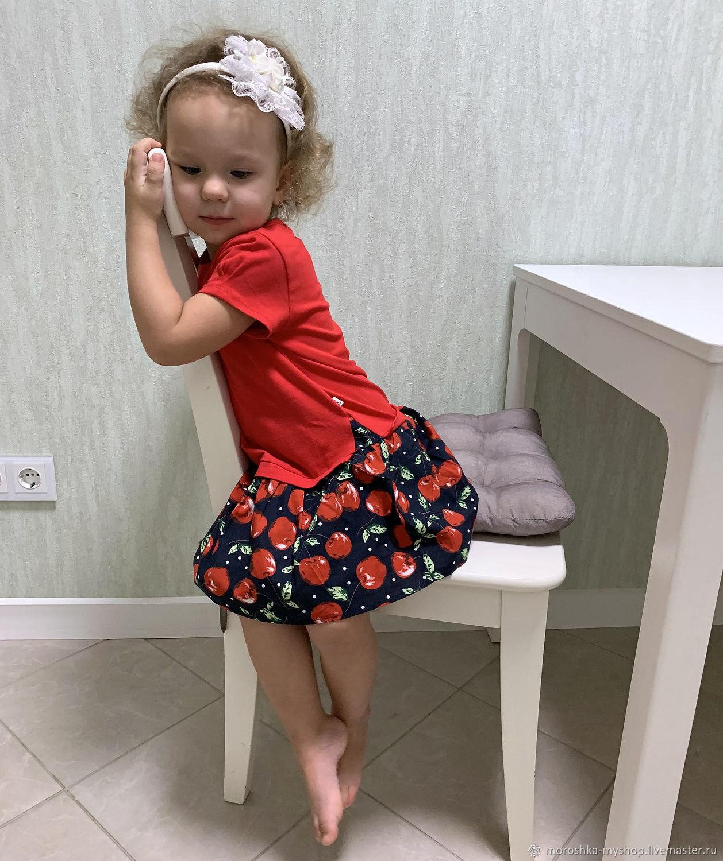 Платье для девочки Красное с черешней, Платье, Санкт-Петербург,  Фото №1