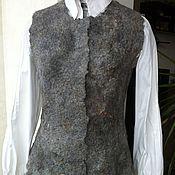Одежда ручной работы. Ярмарка Мастеров - ручная работа Валяный жилет из альпаки. Handmade.