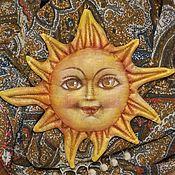Елочные игрушки ручной работы. Ярмарка Мастеров - ручная работа Солнце золотое, ёлочная игрушка. Handmade.
