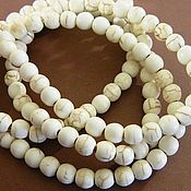 Beads1 handmade. Livemaster - original item Natural howlite, 6 mm bead. Per piece (01). Handmade.