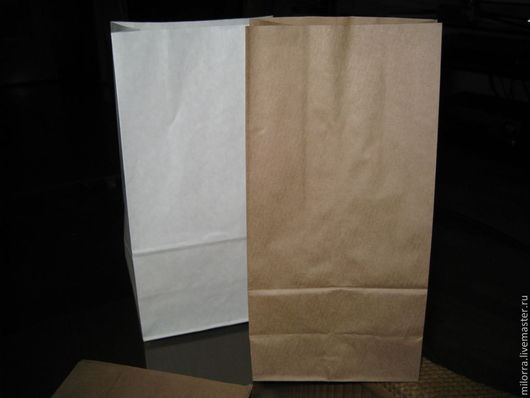 Крафт-пакет с плоским дном: 30 см х 15 см х 9,5 см