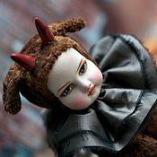 Куклы и игрушки handmade. Livemaster - original item Artist Teddy doll FAUN created with vintage plush OOAK. Handmade.