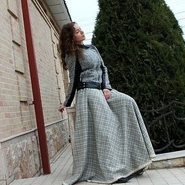 """Одежда ручной работы. Ярмарка Мастеров - ручная работа Теплая юбка """"Diva"""" с кружевом, в пол,шерсть. Handmade."""