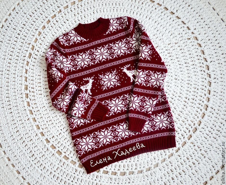 Олени и снежинки для Ольги, Кофты и свитера, Краснодар, Фото №1