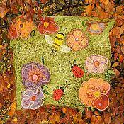 Пледы ручной работы. Ярмарка Мастеров - ручная работа Детский плед - коврик «Летняя полянка». Handmade.