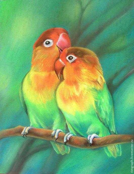 картина пастелью «Всегда вместе» Rimma (rimgraph)