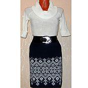 Одежда handmade. Livemaster - original item Skirt knitted Starfall (Norwegian jacquard). Handmade.