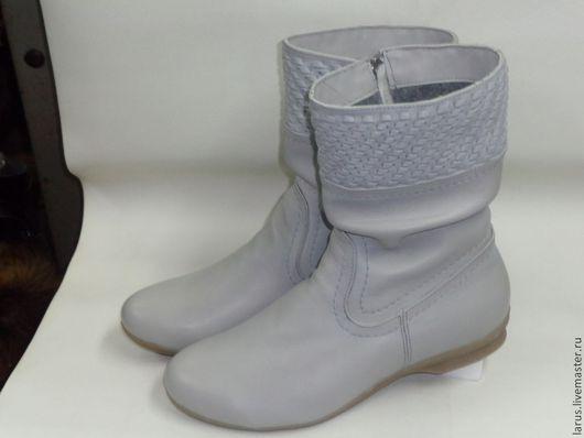 Обувь ручной работы. Ярмарка Мастеров - ручная работа. Купить Полусапожки. Handmade. Серый, байка