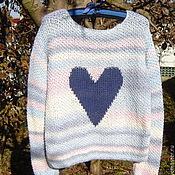 """Одежда ручной работы. Ярмарка Мастеров - ручная работа Вязаный джемпер """"Влюблена"""". Handmade."""