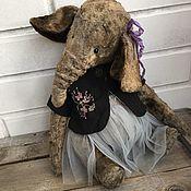 Материалы для творчества ручной работы. Ярмарка Мастеров - ручная работа Выкройка Апрельского Слона- тедди с жакетом. Handmade.