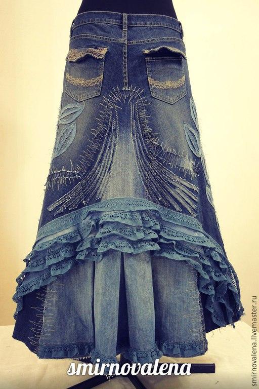 Юбки ручной работы. Ярмарка Мастеров - ручная работа. Купить Юбка МАРИНА. Handmade. Синий, длинная юбка, море