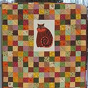 """Для дома и интерьера ручной работы. Ярмарка Мастеров - ручная работа Лоскутное одеяло """" Мой милый зверь"""". Handmade."""