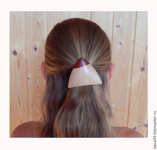 Заколки ручной работы. Ярмарка Мастеров - ручная работа. Купить Украшение для волос из дерева. Handmade. Hair jewellery, из дерева