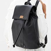 """Рюкзаки ручной работы. Ярмарка Мастеров - ручная работа Рюкзак на завязках из экокожи """"Basic"""" черный. Handmade."""