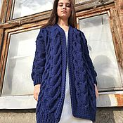 handmade. Livemaster - original item cardigans: Women`s handmade oversize cardigan in blue. Handmade.