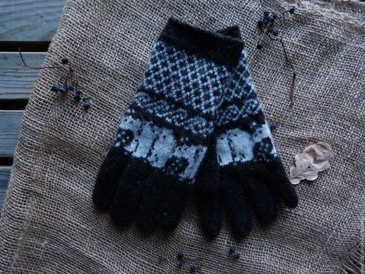 Варежки, митенки, перчатки ручной работы. Ярмарка Мастеров - ручная работа. Купить Перчатки мужские теплые. Handmade. Черный, перчатки