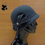 Аксессуары handmade. Livemaster - original item Fashionable ladies ` hat in soft felt. dark gray.. Handmade.