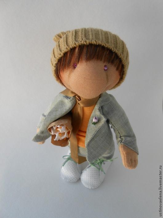 """Коллекционные куклы ручной работы. Ярмарка Мастеров - ручная работа. Купить Кукла """"Солнечный мальчик"""". Handmade. Желтый, кукла интерьерная"""