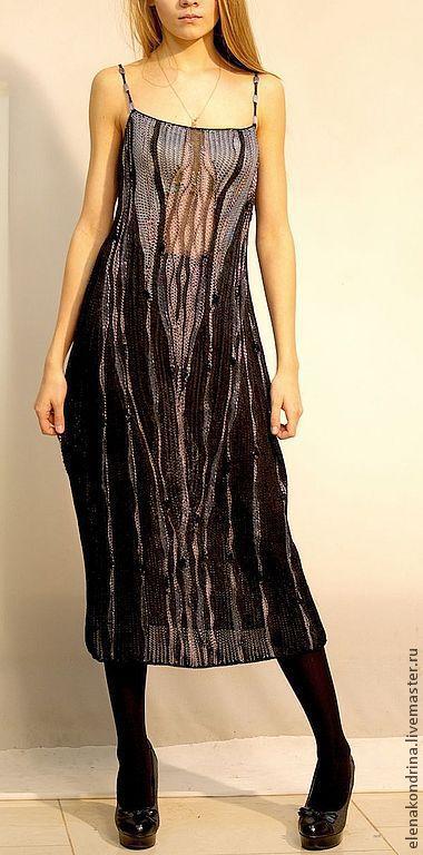"""Платья ручной работы. Ярмарка Мастеров - ручная работа. Купить Платье """" Графика"""". Handmade. Черный, дизайнерская одежда"""