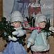 Новый год 2017 ручной работы. Ярмарка Мастеров - ручная работа. Купить Ватная елочная игрушка ДЕТКИ С ОТКРЫТКИ Мальчик с девочкой. Handmade.