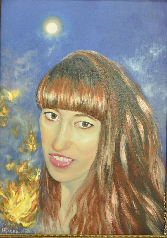 Oil on canvas. Self-portrait (the mystical way). Swine, Oksana.