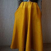 "Одежда ручной работы. Ярмарка Мастеров - ручная работа Валяная юбка ""Мягкий шафран "". Handmade."