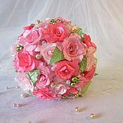 """Свадебный салон ручной работы. Ярмарка Мастеров - ручная работа Букет невесты """"Pink"""". Handmade."""