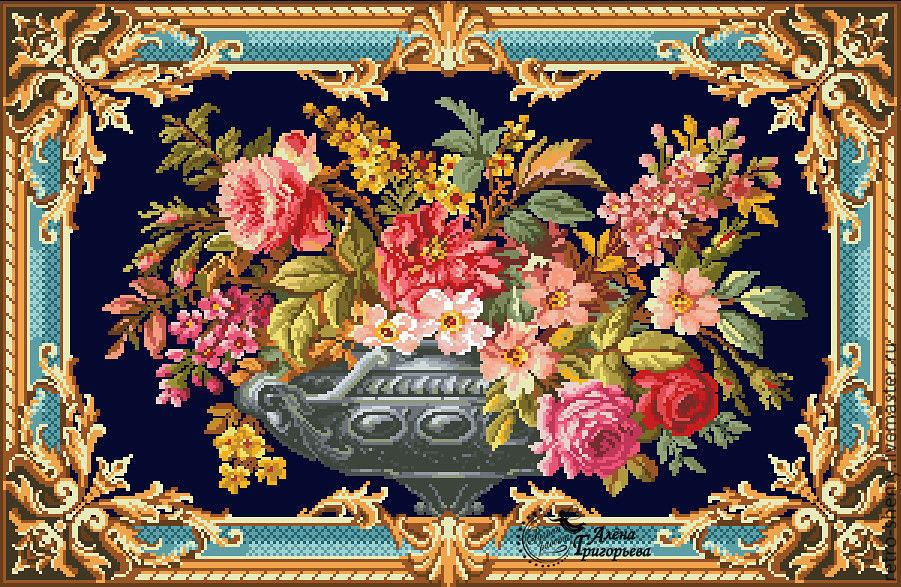 """Схема вышивки """"Флорентийская ваза"""", Схемы для вышивки, Москва,  Фото №1"""