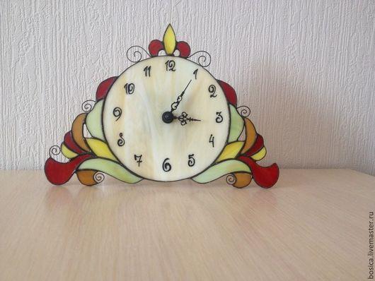 Часы для дома ручной работы. Ярмарка Мастеров - ручная работа. Купить Часы Барокко, тиффани. Handmade. Разноцветный, часы интерьерные