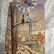 """Часы ручной работы. Ярмарка Мастеров - ручная работа Настенные часы """"Хранители"""" Часы настенные. Часы для дома.. Handmade."""