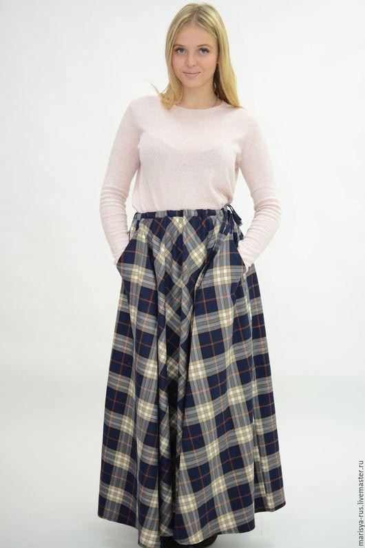 """Юбки ручной работы. Ярмарка Мастеров - ручная работа. Купить Теплая юбка """"Полусолнце"""". Handmade. Тёмно-синий, шерстяная юбка"""