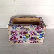 Для дома и интерьера ручной работы. Ярмарка Мастеров - ручная работа Ящик/ коробка анютины глазки. Handmade.