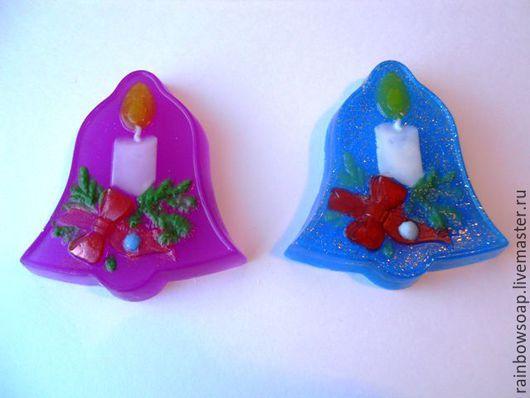 Мыло ручной работы. Ярмарка Мастеров - ручная работа. Купить Мыло Колокольчик со свечой. Handmade. Комбинированный, дед мороз
