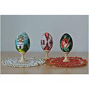 Подарки к праздникам ручной работы. Ярмарка Мастеров - ручная работа Пасхальные яйца бисер. Handmade.