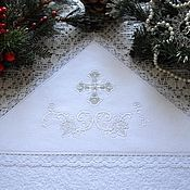 """Работы для детей, ручной работы. Ярмарка Мастеров - ручная работа Крестильная крыжма """"Рождество"""". Handmade."""
