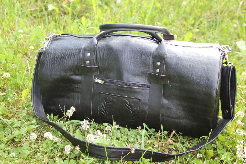 Спортивные сумки ручной работы. Ярмарка Мастеров - ручная работа. Купить дорожная сумка кожаная мужская ЭСТЕТ. Handmade.