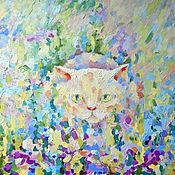 Картины и панно ручной работы. Ярмарка Мастеров - ручная работа Картина. Вересковый кот.. Handmade.