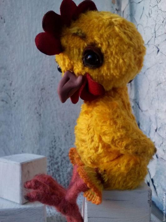 Новый год 2017 ручной работы. Ярмарка Мастеров - ручная работа. Купить Петя Петушок. Handmade. Желтый, символ года, птичка