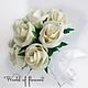 """Свадебные букеты и букеты на заказ из атласных лент. Сохраните самые теплые воспоминания о прекрасных моментах в Вашей жизни!  Сделано с любовью для Вас от магазина бижутерии """"World of flowers&"""