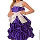 """Одежда для девочек, ручной работы. Ярмарка Мастеров - ручная работа. Купить Платье """"Красотка"""". Handmade. Тёмно-фиолетовый, платье для выпускного"""