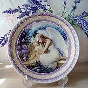 """Посуда ручной работы. Ярмарка Мастеров - ручная работа Тарелка """"Прекрасный ангел"""". Handmade."""