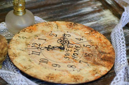 Часы для дома ручной работы. Ярмарка Мастеров - ручная работа. Купить Часы. Handmade. Комбинированный, деревянные часы, часовой механизм