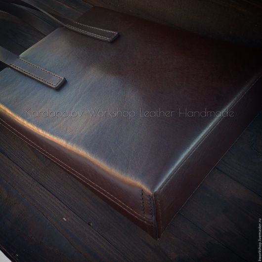 Женские сумки ручной работы. Ярмарка Мастеров - ручная работа. Купить Сумка шоппер из натуральной кожи 77. Handmade. Коричневый