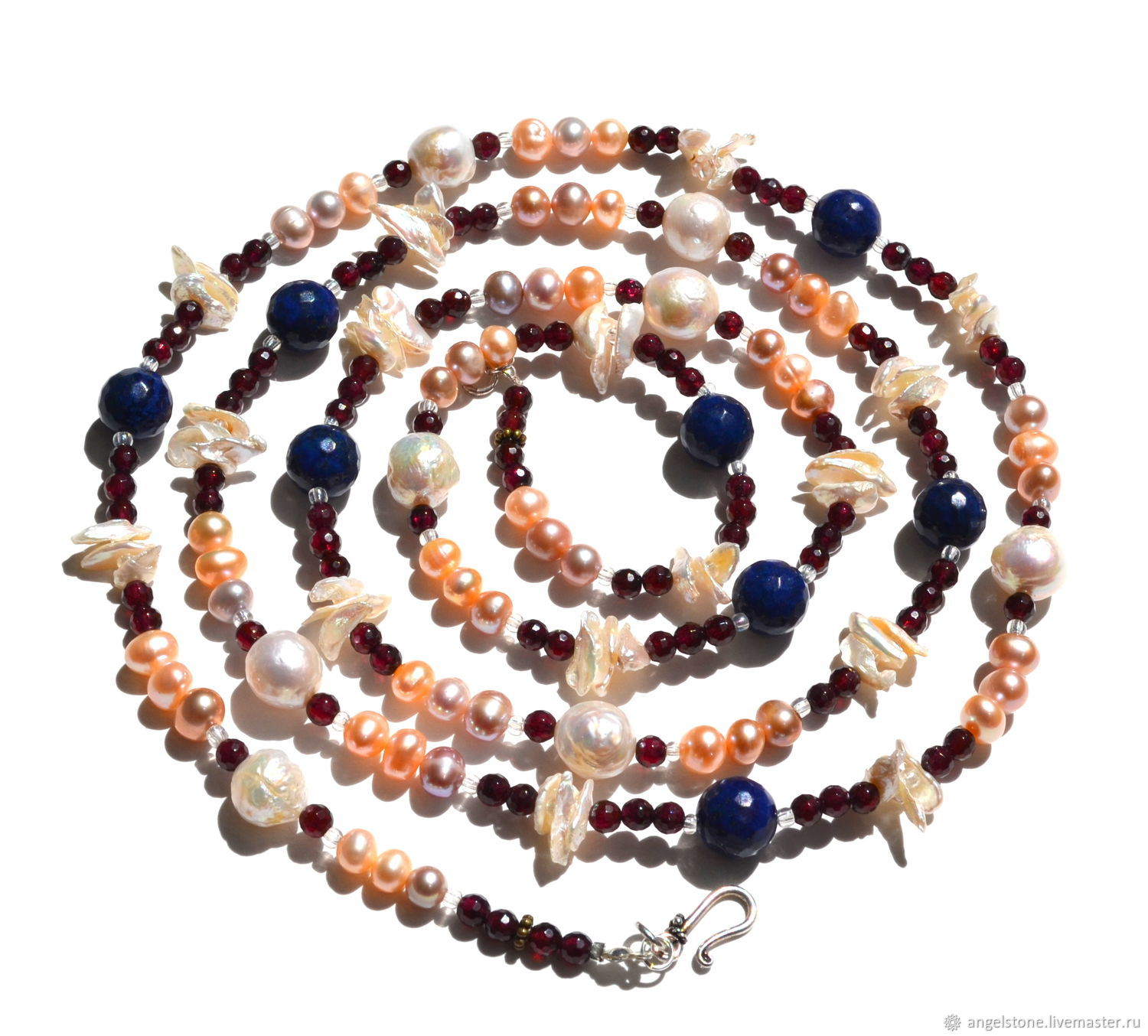 Necklaces & Beads handmade. Livemaster - handmade. Buy Long necklace of natural pearls mysteries of the ocean.