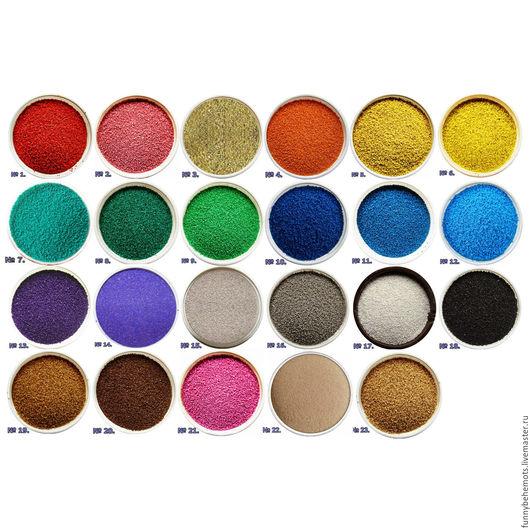 Аппликации, вставки, отделка ручной работы. Ярмарка Мастеров - ручная работа. Купить Песок кварцевый цветной. Handmade. Песок