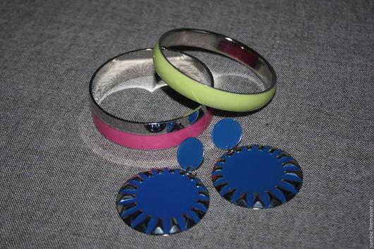 """Винтажные украшения. Ярмарка Мастеров - ручная работа. Купить Серьги гвоздики  с подвесками """"Синие"""" винтаж. Handmade. Синий, винтаж"""