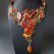 Украшения handmade. Livemaster - original item necklace Heat. Handmade.